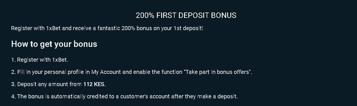 1xBet bonus rules